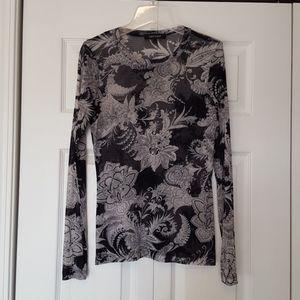 Karen Kane paisley mesh top, size large